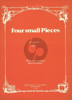 4 Small Pieces for Clarinet Bb and Piano