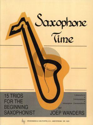 Wanders Saxophone Time 3 Saxophones (ATT) (Score/Parts) (Grade 1 - 2)