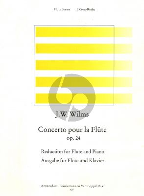 Wilms Concerto Op.24 D-major Flute-Piano (edited by Rien de Reede)