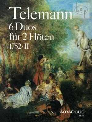 6 Duos 1752 -II TWV 40:124 - 129 2 Flöten (2 Violinen / Oboen)
