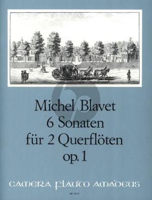 Blavet 6 Sonaten Op.1 fur 2 Floten (Playing Score) (edited by Bernhard Pauler)