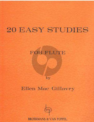 MacGillavry 20 Easy Studies for Flute