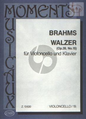 Walzer Opus 39 No. 15 Violoncello and Piano