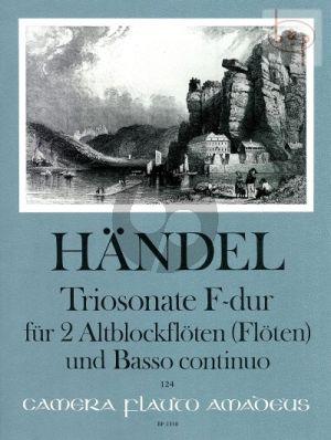 Triosonate F-dur HWV 405 2 Treble Recorders [2 Fl.] - Bc