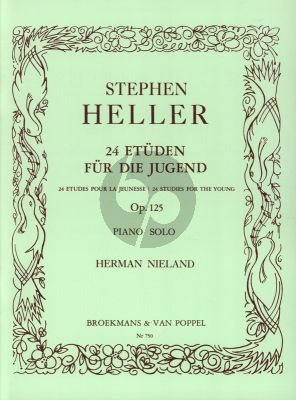 Heller 24 Studies for the Young Op.125 Piano (Herman Nieland)