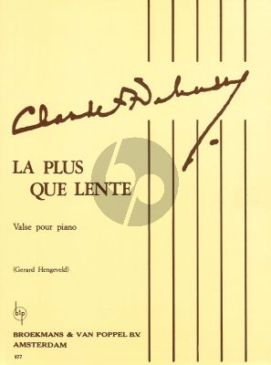 Debussy La Plus que Lente (Hengeveld)