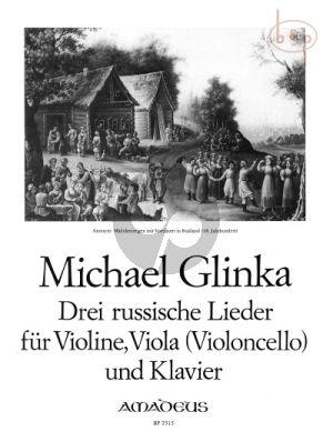 3 russische Lieder Violine-Viola (Vc.)-Klavier