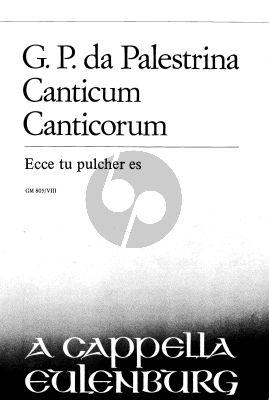 Palestrina Ecce Tu Pulcher Es (from Schola Cantorum) SATTB