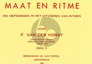 Horst Maat en Ritme deel 2 (150 Oefeningen in het uitvoeren van ritme)