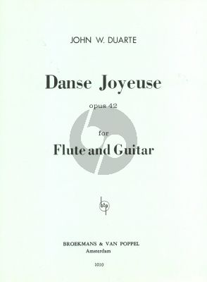 Duarte Dance Joyeuse Op.42 for Flute and Guitar (Playing Score)