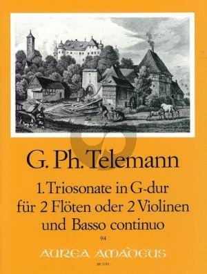 Telemann Triosonate G-dur TWV 42:G3 2 Flöten(2 Vi.)-Bc (Bernhard Pauler)