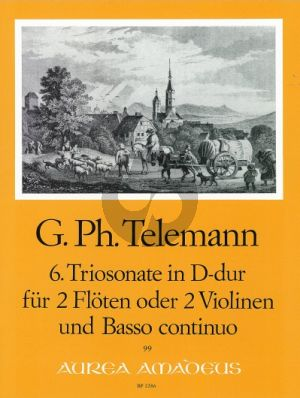 Telemann Triosonate D-dur TWV 42:D4 2 Flöten (2 Vi.)-Bc (Bernhard Pauler)