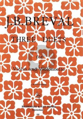 Breval 3 Duets Violin and Violoncello (Jan Hollanders)