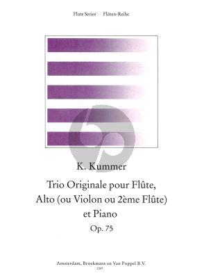 Kummer Trio Originale C-major Op.75 Flute-Viola[Violin/2nd Flute]-Piano (Score/Parts)
