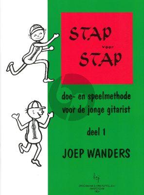 Wanders Stap voor Stap Vol.1 Methode voor Gitaar voor jonge kinderen (Method for Young Children Dutch Language)