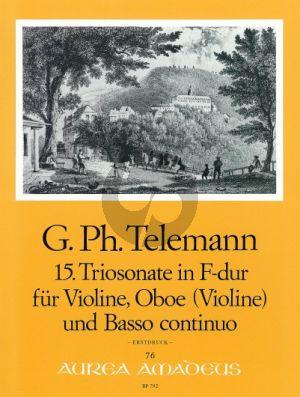 Telemann Trio Sonata F-major TWV 42:F13 Violin-Oboe[Vi.]-Bc