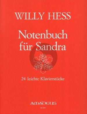 Hess Notenbuch fur Sandra Op.109 fur Klavier (24 leichte Stucke)