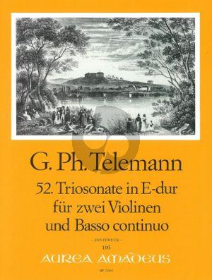 Telemann Trio Sonata E-major TWV 42:E5 2 Violins-Bc