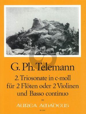 Telemann Trio Sonata c-minor TWV 42:c1 2 Flutes[2 Vi.]-Bc