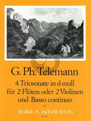 Telemann Trio Sonata d-minor TWV 42:d2 2 Flutes[2 Vi.]-Bc