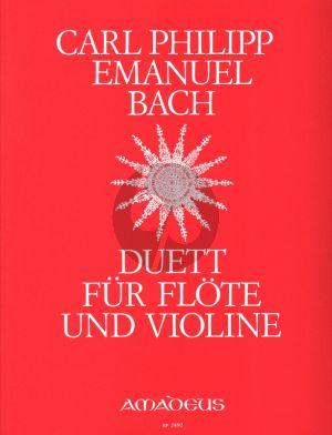 Bach Duett G-dur fur Flöte und Violine 2 Spielpartituren (Herausgegeben von Bernhard Pauler)