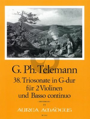 Telemann Trio Sonata G-major TWV 42:G9 2 Violins-Bc