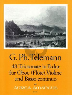 Telemann Trio Sonata B-flat major TWV 42:B1 Oboe[Fl./Vi.]-Violin-Bc