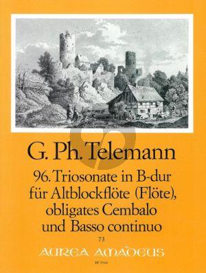 Telemann Trio Sonata B-flat major TWV 42:B4 Treble Rec.-obl. Cembalo-Bc
