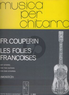 Couperin Les Folies Francaises 2 Guitars