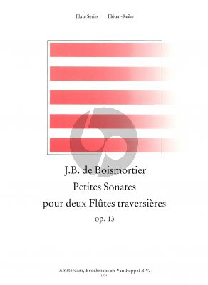 12 Petites Sonatas Op.13 2 Flutes (edited by Jane Bowers)