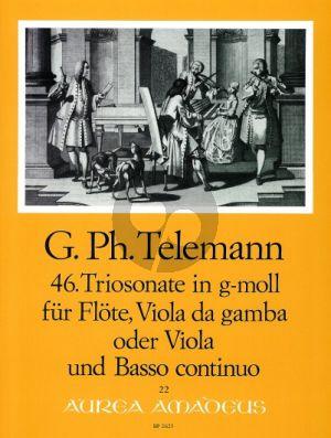Trio Sonata g-minor TWV 42:g7 Flute-Viola da Gamba[Va.]-Bc
