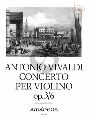Concerto Op.3 No.6 A-Minor (RV 356) (Violin-Strings-Bc)