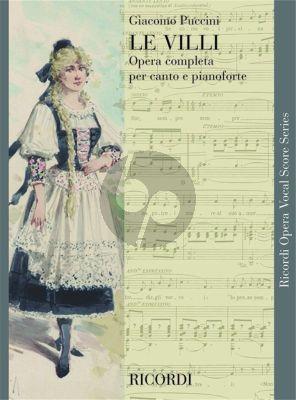Puccini Le Villi Vocal Score (it.)