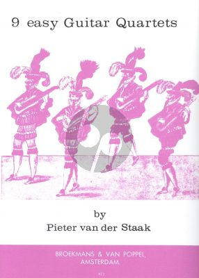 Staak 9 Easy Guitar-Quartets (playing score)