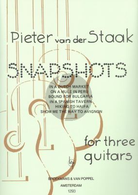 Staak Snapshots (6 Easy Trio's) 3 Guitars