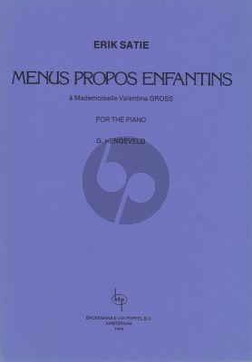 Satie Menus Propos Enfantines piano solo