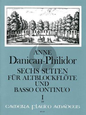 Danican-Philidor 6 Suiten Vol. 1 No. 1 - 3 Altblockflöte und Bc (Martin Nitz)