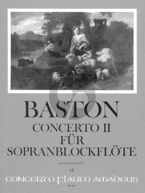 Baston Concerto No.2 C-major Descant Rec.-Strings-Bc (piano red.)