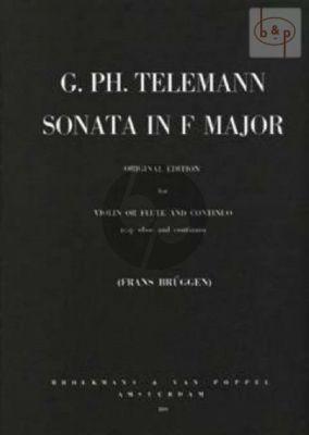 Sonata F-major Flute[Violin]-Bc