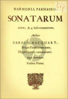 3 Sonatas (from Harmonia Parnassia) 2 Violins [Viola da Gamba/Cello] and c.)