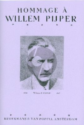 Hommage a Willem Pijper Piano