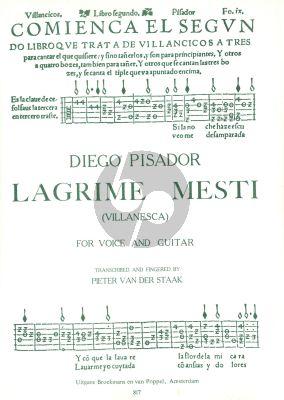 Pisador Lagrime Mesti (Villanesca) Voice-Guitar (Pieter v.d Staak)