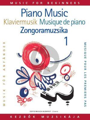 Piano-Music for Beginners (edited by Magda Szávai and Lili Veszprémi)