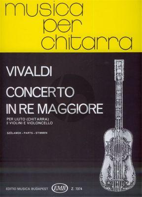 Vivaldi Concerto D-major RV 93 Guitar [Lute]- 2 Violins and Violoncello (Parts) (edited by Daniel Benkő)