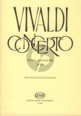 Vivaldi Concerto G-major (RV 413) (PV 120/F.III No.12) Violoncello-piano