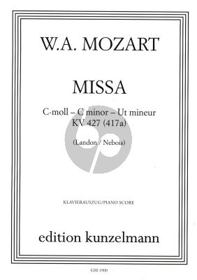 Missa c-Moll KV 427 Soli-Chor-Orchester