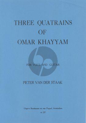 Staak 3 Quatrains of Omar Khayam Voice-Guitar