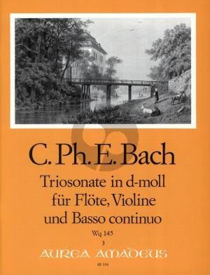 Bach Triosonate d-moll Wq 145 (nach BWV 1036) Flöte[Oboe/Violine]-Violine-Bc (Herausgegeben von Manfredo Zimmermann)