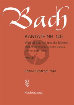 Bach Kantate No.140 BWV 140 - Wachet auf, ruft uns die Stimme (Sleepers wake! loud sounds the warning) (Deutsch/Englisch/Franzosisch) (KA)