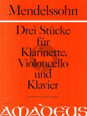 3 Stücke Klarinette [Bb]-Violoncello und Klavier